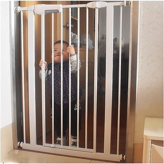 Valla For Mascotas Extendido La Barrera De Seguridad Del Bebé Puertas De Escaleras Extra Ancho Automático Escalera Barandilla Presión Chimenea Valla (Color : Hight76cm-width , Size : 210-21+cm) : Amazon.es: Hogar