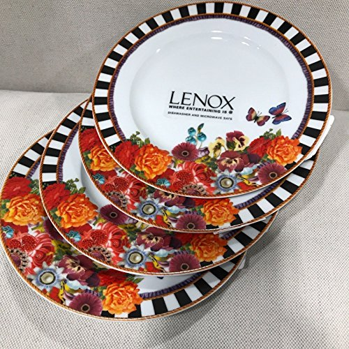 Eliza Stripe ((4) Melli Mello by Lenox Eliza Stripe Accent Salad Plates NEW~)