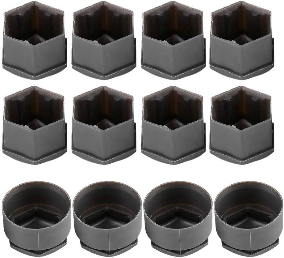 20 piezas Color : Black Tuercas de las ruedas cubiertas de 17 mm Tuerca Tapa de rueda Hub Auto Protecci/ón Tornillo de coche compatible con Audi