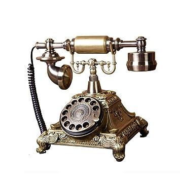 Guyu línea Fija Antiguo Pastoral Europeo Retro Casa Fija Teléfono ...