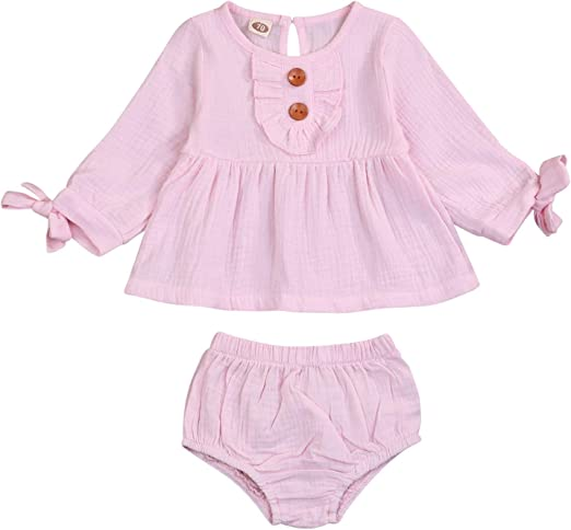 Baby Girl Toddler Bowknot Bodysuit Jumpsuit Adorable Clothes Four Colors Outfits
