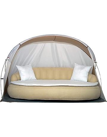 Dekovita Tumbona de jardín hinchable 220x130cm Sofá cama incl. Almohada Colchón Canopy 2-3