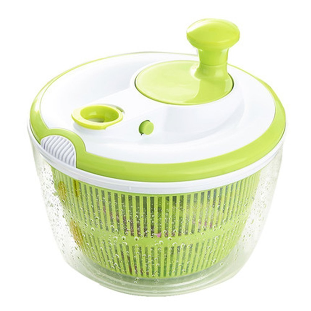 5L Big Capacity Vegetable and Fruit Salad Washer Spinner Dryer Dehydrator FDA Certified Fast Labor Saving Kitchen Wash Vegetables Cleaning Storage Tool