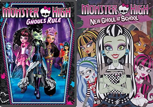 Monster High Ghouls Rule & New Ghouls at School DVD Animated Movie Set]()
