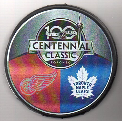 - 100th Centennial Classic Toronto Maple Leafs Detroit Red Wings NHL Hockey Puck +FREE Cube