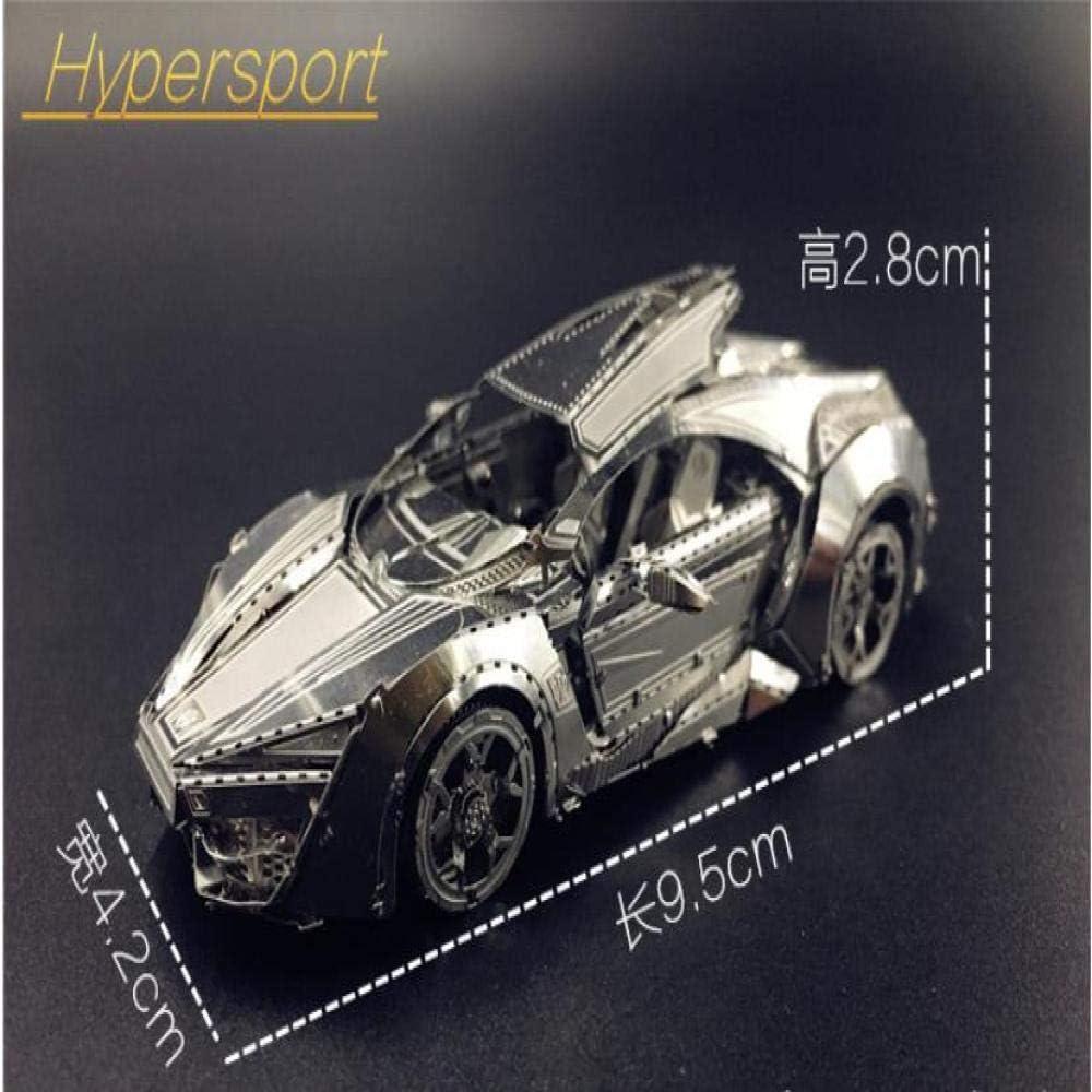 Rapid Sports Car 3D Metal Puzzle Modelo Adult ToysDIY 3D Laser Cut ...