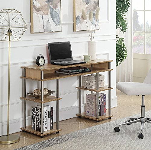 Convenience Concepts 131436LO Designs2Go Student Desk, Light Oak