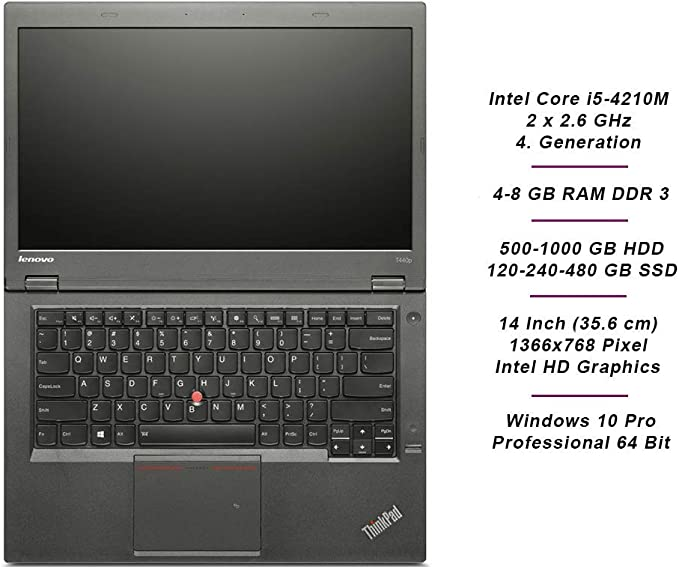 Lenovo Thinkpad T440p Business Notebook Intel I5 2 X Computers Accessories