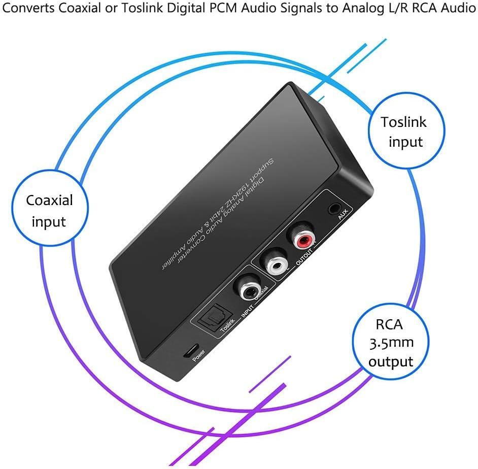 en Salida anal/ógica 5.1//2.1 El convertidor Digital a anal/ógico el transceptor de Audio Digital a anal/ógico admite se/ñales Dolby /ópticas coaxiales DTS AC3 y se/ñales de Audio est/éreo R//L