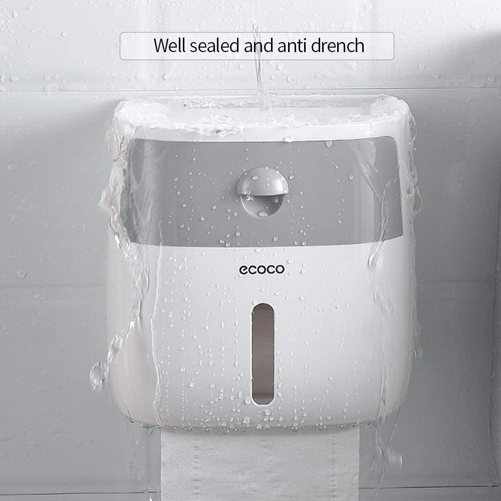 Decdeal Paper Towel Dispenser Wall-Mounted Tissue Dispenser Bathroom Tissue Box for Multifold Paper Towels Tissue Storage Box with Drawer by ecoco