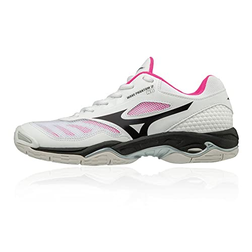 mizuno wave stealth v white netball trainers homme