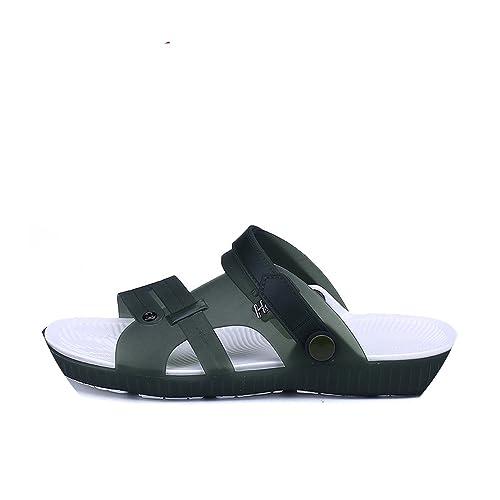 090726be2519 Slippers Men Casual Leisure Soft Slides Eva Massage Beach Slippers Water Shoes  Men s Sandals Flip Flops