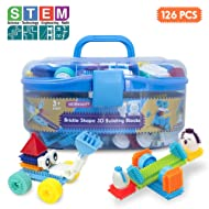 Bristle Interlocking Building Blocks, Stem Learning Idea Memory Gifts for Early Skill Development, Creativity Sensory Toys for Toddlers & Kids 3,4,5,6 Years Old