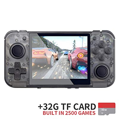 Huluda RG350 Retro Game Console 64bit Handheld Console 3.5 Inch IPS Screen Dual-core: Home & Kitchen
