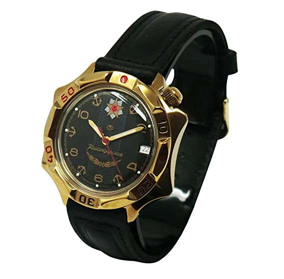 Cucuba® Reloj DE Pulsera KOMANDIRSKIE Movimiento MECÁNICO Soviet Rusia 17 RUBÍES – Idea DE Regalo