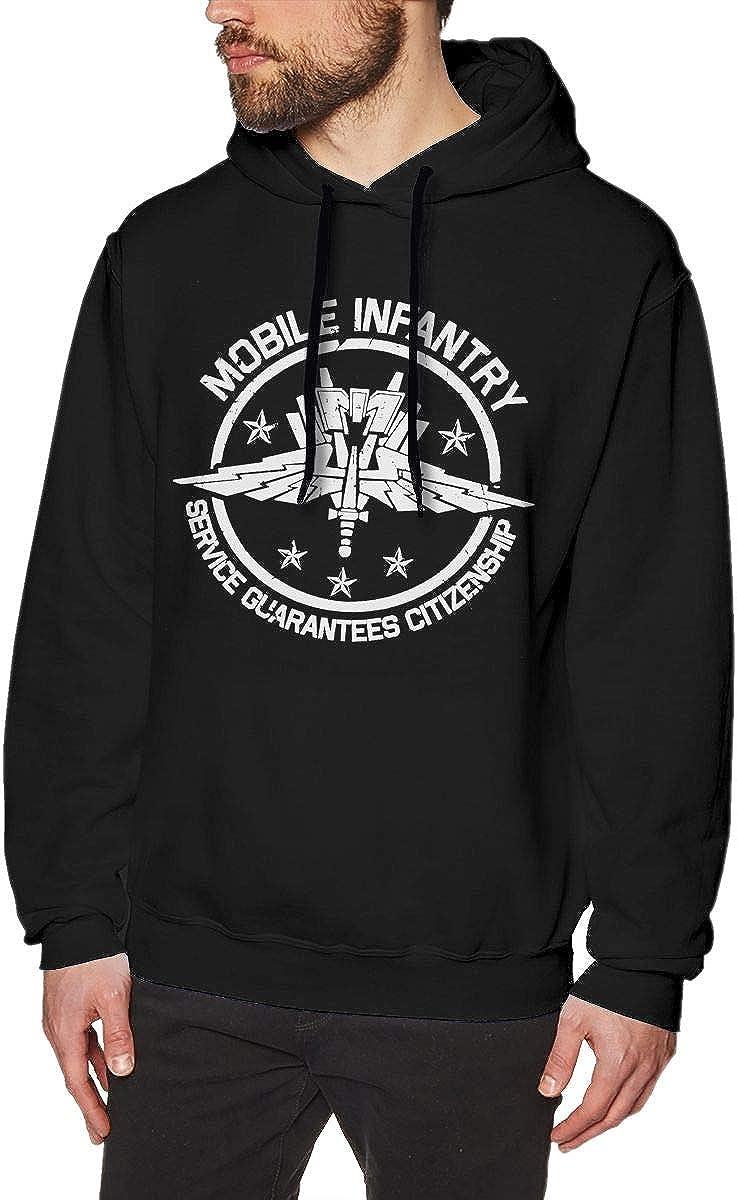 Mobile Infantry Crest Mens Pullover Hooded Sweatshirt Cozy Sport Outwear Black