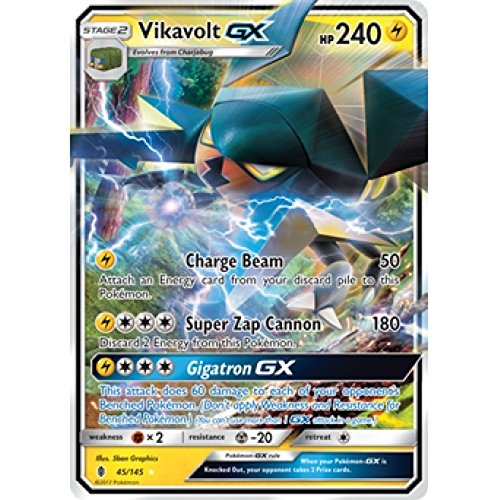 Vikavolt-GX - 45/145 - Ultra Rare - Sun & Moon: Guardians Rising