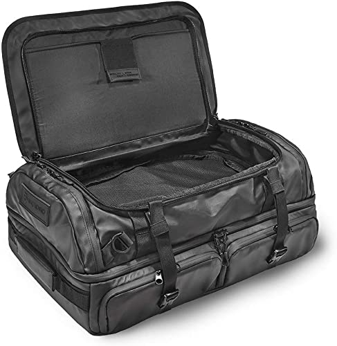 HEXAD Access 45L Duffel Bag – Travel Duffel Bag with Multiple Compartments for Organization Black