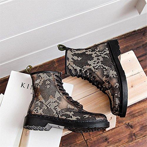Real Libre Locomotora Nvxie Martín Zapatos Pareja Mujeres Cuero Invierno Medio 38 Plata Al Botas Plano Aire Tobillo Gold Oro 37 Otoño Ocio PqxqfdAa