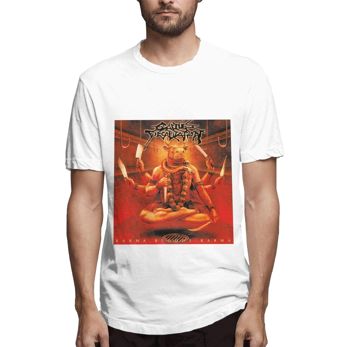 Lihehen Cattle Decapitation Simple Casual Round Neck T Shirt