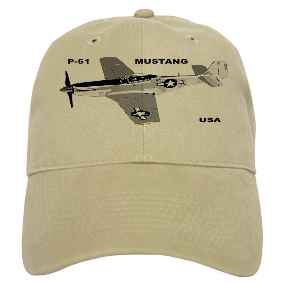 Baseball Cap with Adjustable Closure Unique Printed Baseball Hat 1 Asekngvo P-51 MUSTANG Cap