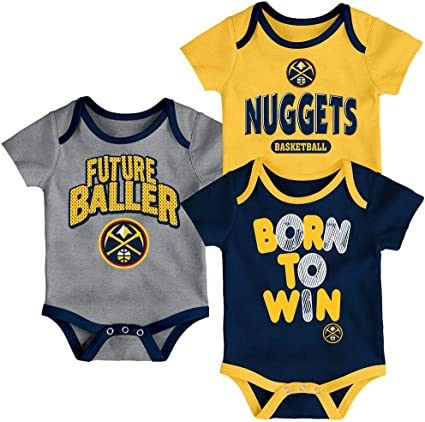 OuterStuff NBA Newborn Infants Champion 3 Piece Creeper Bodysuit Set