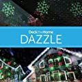 Deck The Home Dazzle Red Green Premium Home and Garden Laser Light w/Remote and Christmas Images Amazon Exclusive