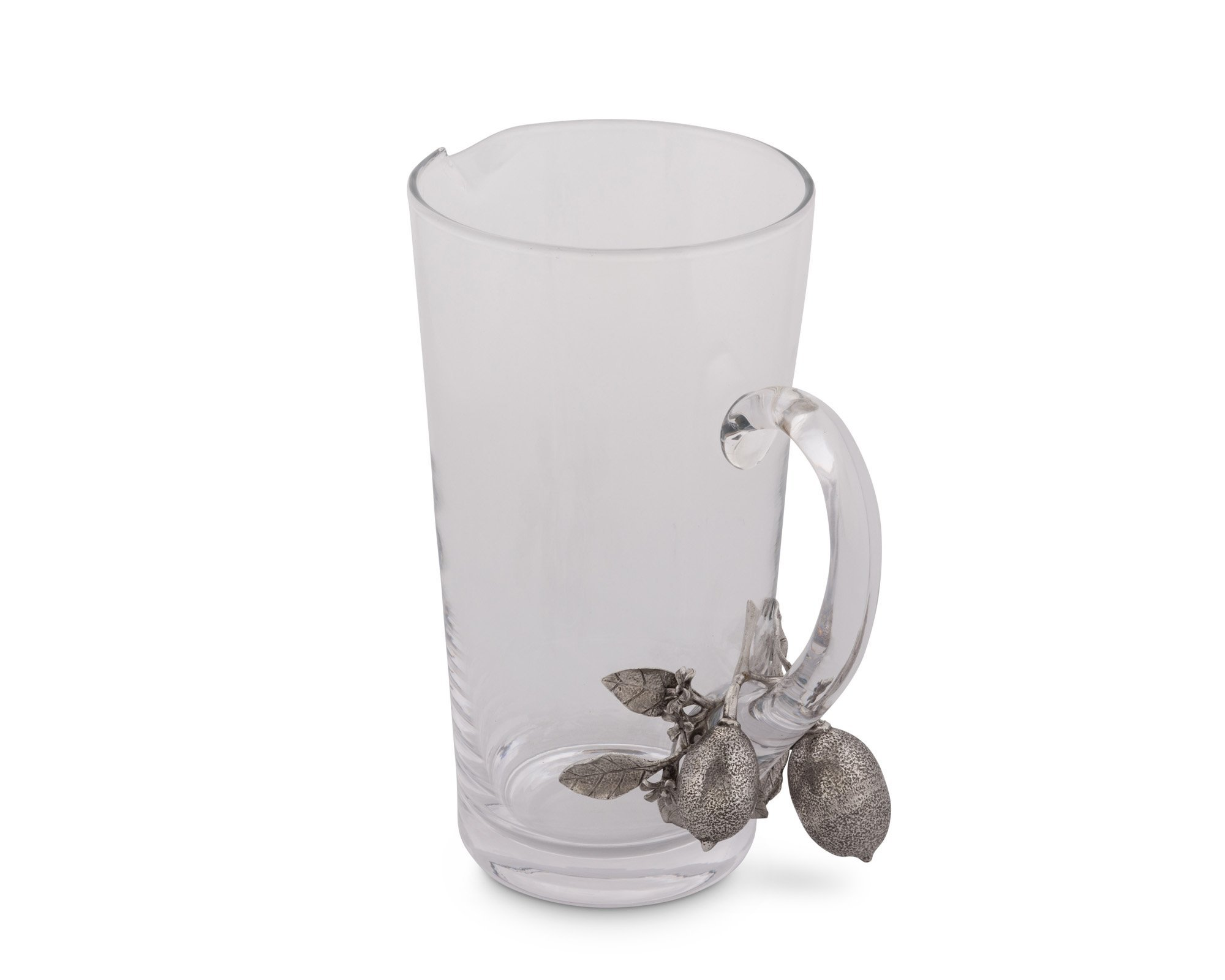 Vagabond House Glass and Pewter Lemon Bouquet Pitcher 9.5'' Tall by Vagabond House (Image #1)