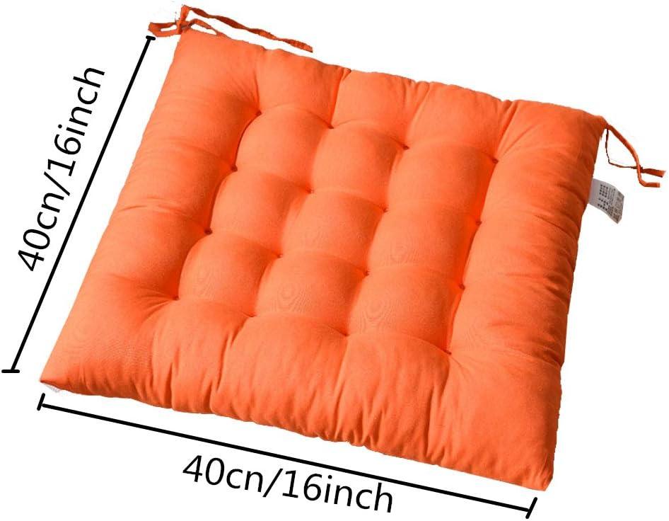 Arancione per Dentro o Fuori,40x40x5 cm Cuscini da Sedia Trapuntati,Disponibile in Tanti Colori Diversi,Cuscini per Sedie da Giardino. AGDLLYD Cuscino per Sedia Cuscini per Giardino
