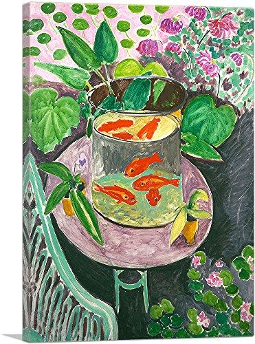 (ARTCANVAS Goldfish 1911 Canvas Art Print by Henri Matisse- 40
