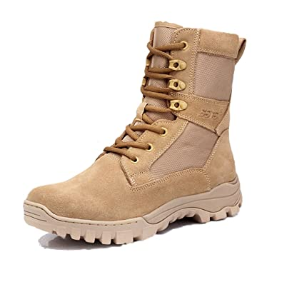 PANY Men s 8 inch Coyote Military Boots Breathable Combat Boots Commando  Outdoor Desert Tactical Boots 6.5 022a347e9a