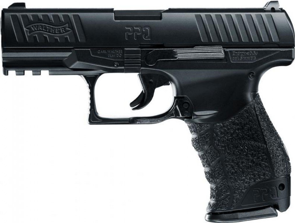 Metal Pesado, 6 mm Pistola Airsoft Umarex Walther PPQ Color Negro