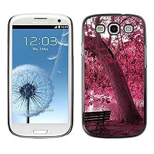 All Phone Most Case / Oferta Especial Duro Teléfono Inteligente PC Cáscara Funda Cubierta de proteccion Caso / Hard Case Samsung Galaxy S3 // Red Forrest Park