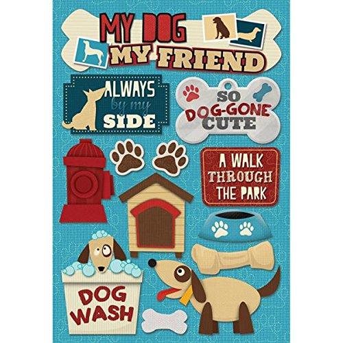 Cardstock Stickers Phrases Scrapbook - KAREN FOSTER Cardstock Stickers, My Dog, My Friend