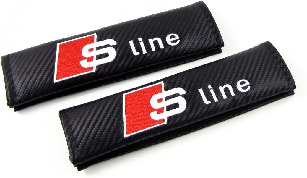 Lot de 2/passe-ceinture S-Line brod/é pour ceinture de s/écurit/é