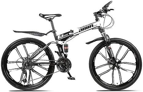 WJSW Bicicleta de montaña Plegable para Hombre, Deportes al Aire Libre, Bicicleta de Carretera de Estilo Libre de 26 Pulgadas (Color: Negro, tamaño: 24 velocidades): Amazon.es: Deportes y aire libre