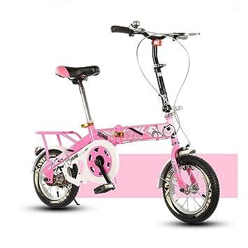 YEARLY Bicicleta plegable infantil, Bicicleta plegable estudiante Luz portátil Alumnos Bicicleta plegable De 8 a