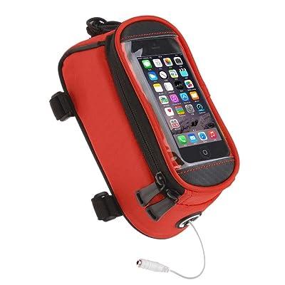 Symboat Équitation sac de vélo cadre avant sac de faisceau de tube Transparent PVC sac de pannier de poche panier Caractéristiques: Taille: L: 5,5 pouces ou moins pour les téléphones mobiles