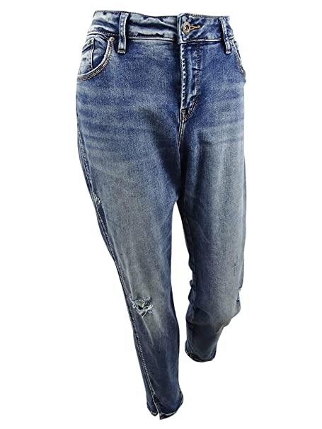 Amazon.com: Silver Jeans Co. Avery Curvy Fit Pantalones ...