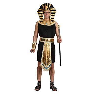 (L) Mens Egyptian King Costume for Ancient Historic Fancy Dress Mans Male  sc 1 st  Amazon UK : homemade egyptian costumes  - Germanpascual.Com