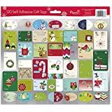 English Pack of 120 Self Adhesive Christmas Gift Tags Labels 3 Sheets with 40 Different Designs Xmas Gift Labels Best For Gifts Presents, Wrapping Paper and Gift Bags (Holiday Fun)