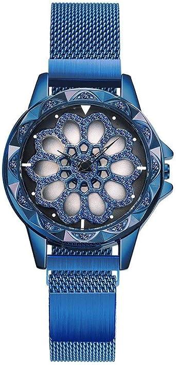 HWCOO Reloj de Pulsera Reloj de Cuarzo de Alta Gama Giratorio de ...