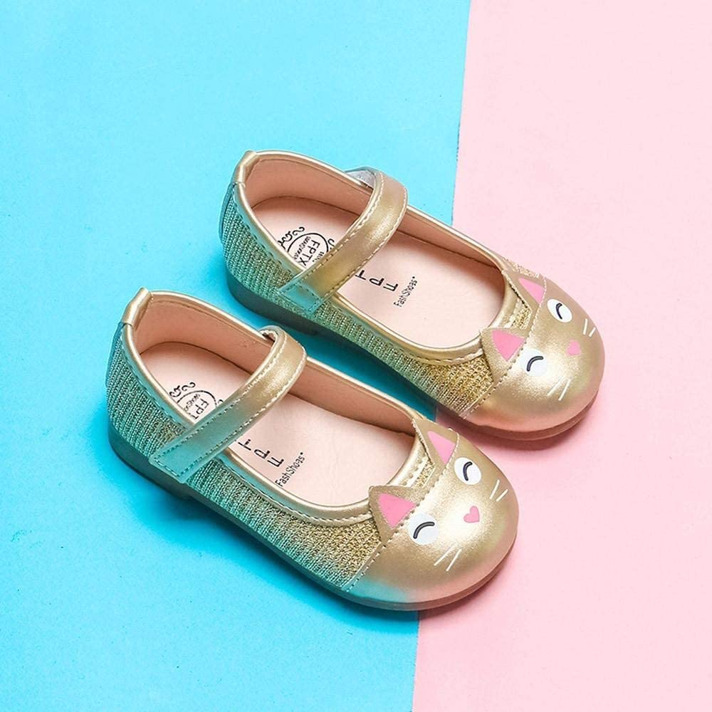 Girls Shoes SHOBDW Toddler Baby Girls Baby Princess Shoes Pretty Children Cute Cartoon Cat Leather Party Wedding Single Shoes