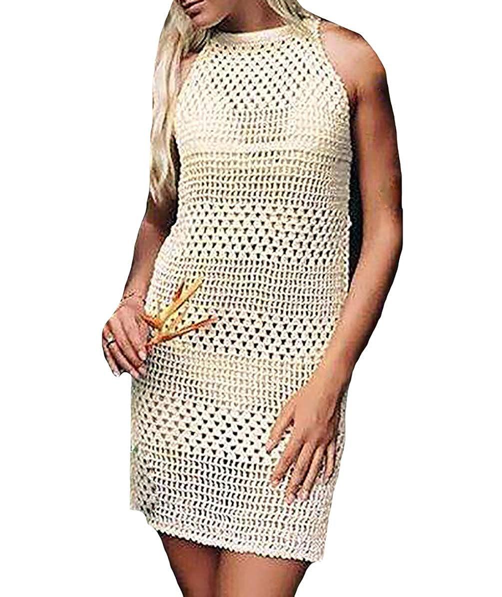 fd3daa48c8e83 Bestyou Women s Crochet Knit Top Shirt Swimsuit Cover up