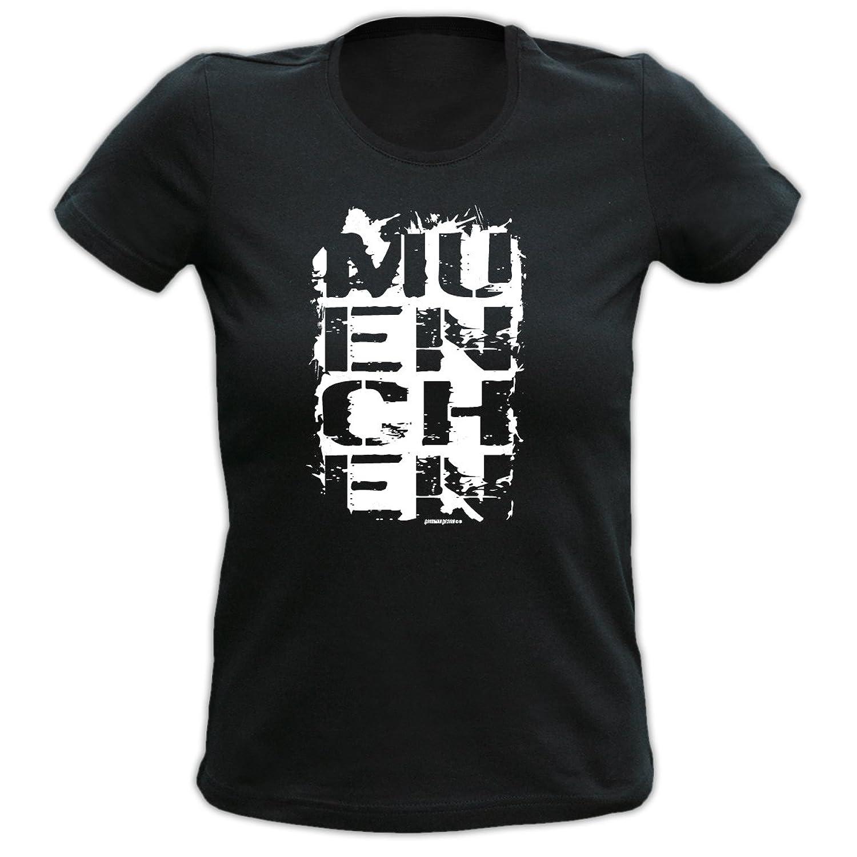 T-Shirt MÜNCHEN Damenshirt Damen Apres Ski Funshirt lustiger Aufdruck Girlie Girl