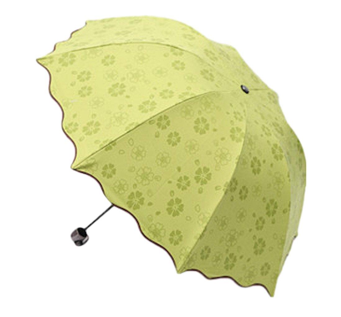 折りたたみ傘 花柄 浮き上がる