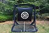 Large Golf Practice Net Driving Net Tri-ball Hitting Net Automatic Ball Return System Golf Training Aid with Target and Two Side Barrier