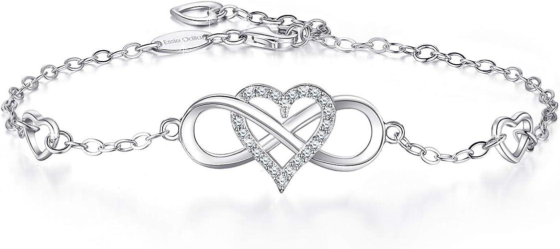 """dame l/'amour les femmes pierre coeur bracelet argenté bracelet /"""""""