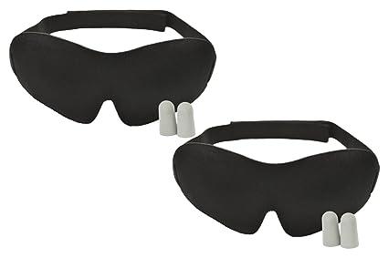 Lujo dormir máscara con tapones para los oídos – insomnio ayuda (2 unidades)