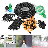 Auto Drip Irrigation Kit- 82FT Irrigation Pipe, Irrigation Spray,Irrigation Timer, Perfect Irrigation Systems for Flower Bed, Patio, Garden Greenhouse Plants